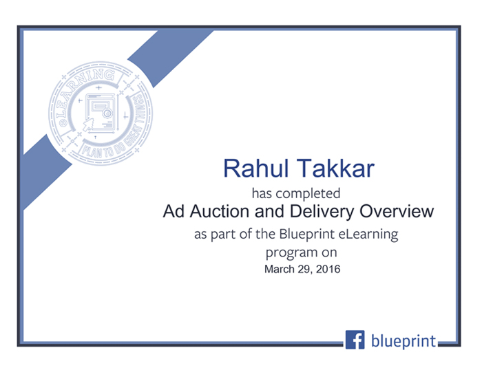 Facebook Certificate Ad Auction and Delivery Overview