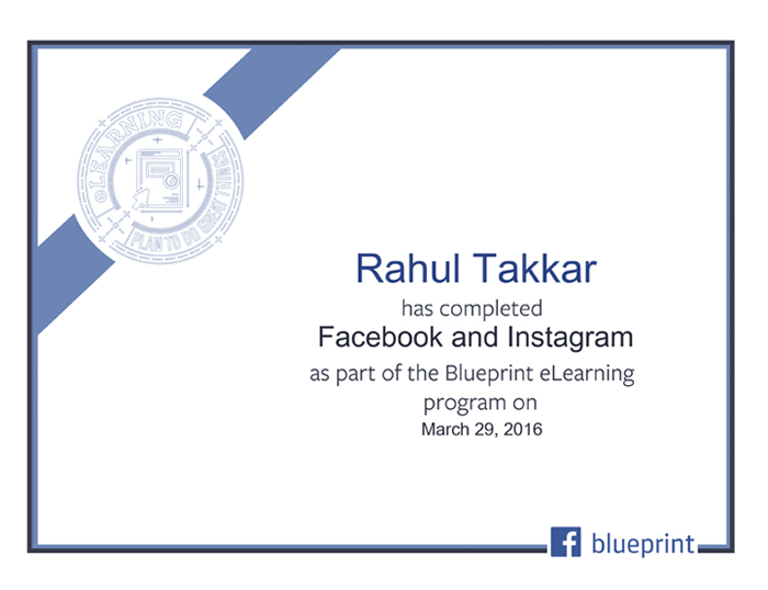 Facebook Certified Facebook and Instagram | Blueprint eLearning